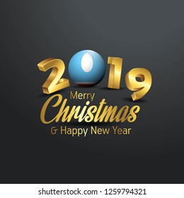 Sakha Republic Flag 2019 Merry Christmas Typography. New Year Abstract Celebration background