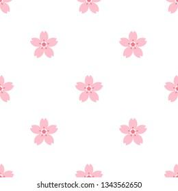 sakura flower seamless pattern