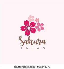 Sakura Japan Logo Vector Template