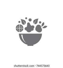 Salad Bar Icon logo Designs Vector