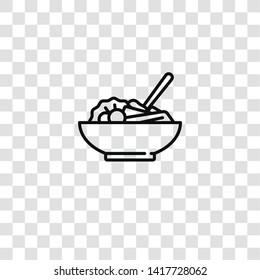 salad icon from barbecue collection for mobile concept and web apps icon. Transparent outline, thin line salad icon for website design and mobile, app development