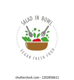 Salad Vector Designs Collection - healthy vegetables food and bowl