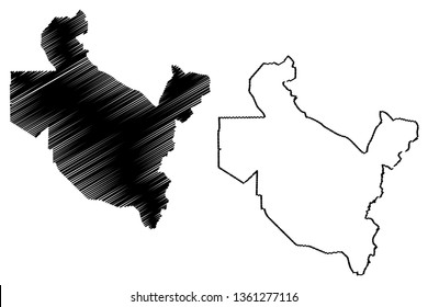 Saladin Governorate (Republic of Iraq, Governorates of Iraq) map vector illustration, scribble sketch Salah ad Din Province map