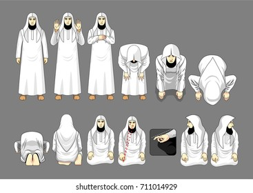 Salafy salah prayer, Sunni salah, Sunni prayer.