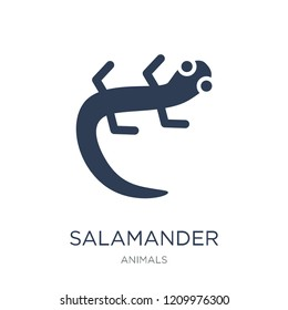 salamander icon. Trendy flat vector salamander icon on white background from animals collection, vector illustration can be use for web and mobile, eps10