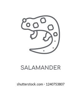 salamander linear icon. Modern outline salamander logo concept on white background from animals collection. Suitable for use on web apps, mobile apps and print media.