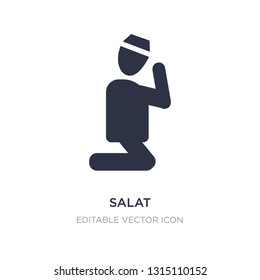 salat icon on white background. Simple element illustration from People concept. salat icon symbol design.