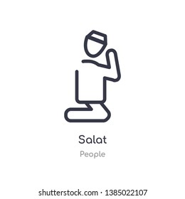 salat outline icon. isolated line vector illustration from people collection. editable thin stroke salat icon on white background