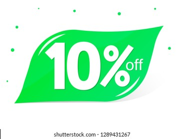 Sale 10% off, discount banner design template, vector illustration