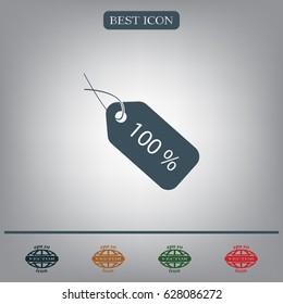 Sale 100 icon. Vector Eps 10