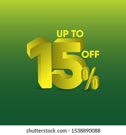 sale up to 15% off design template.