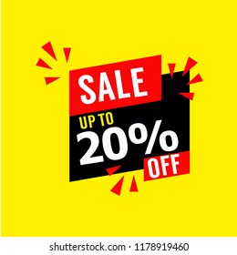 Sale up to 20% Off Vector Template Design Illustration