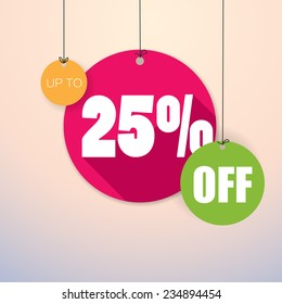 Sale Up to 25% - Colorful and fresh Vector Poster