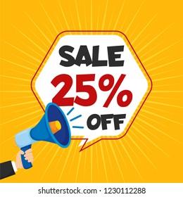 Sale 25% Off Template Vector
