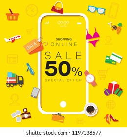Sale 50% Shopping Online Mobile Phone
