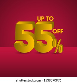 sale up to 55% off design template.