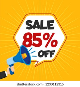 Sale 85% Off Template Vector