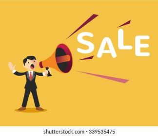 Sale announcement. Vector flat illustration