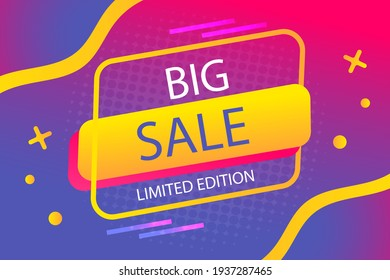 Sale background. Best sale banner. Original poster for discount. Bright abstract background with text. Promotion coupon template. Offer price. Mega discount promo poster. Vector illustration.