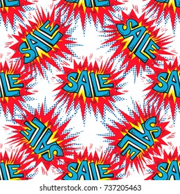 Sale background Closeout seamless pattern, Clearance wallpaper Selloff and Sellout theme pop art