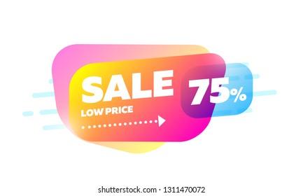 Sale badge banner design. Big mega sale template mockup. Special offer poster vector illustration. Colorful modern creative icon.