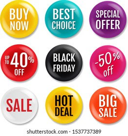Sale Badge Isolated White Background  With Gradient Mesh, Vector Illustration