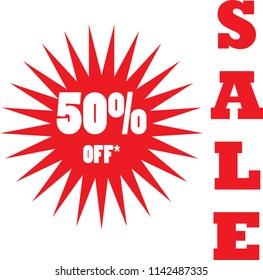 Sale banner. Sale 50% off
