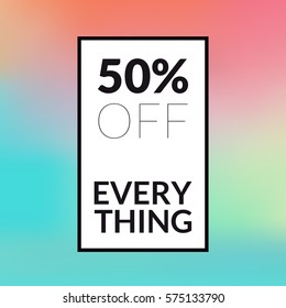 Sale banner 50% Off. Trendy abstract style. Vector illustration.