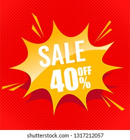 sale banner blast label