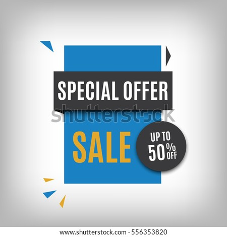sale banner design blue discount poster stock vector royalty free