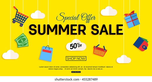 Sale banner design. Vector eps 10 format.