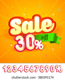 Sale banner design. Vector illustration