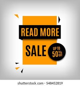 Sale banner design. Yellow discount poster. Vector, eps10.