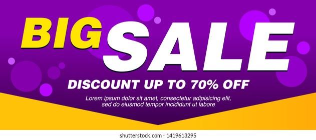 sale banner layout design, vector illustration