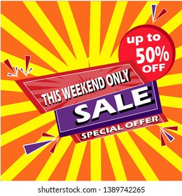 Sale banner layout modern design can make all kinds of business promotions