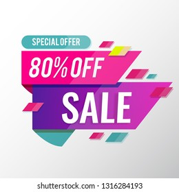 sale banner template 80% off