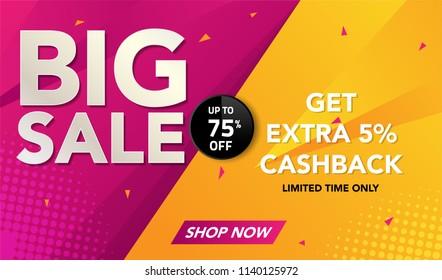 Sale banner template background, Big sale special offer. end of season super sale banner. black friday. modern sale design. vector illustration.