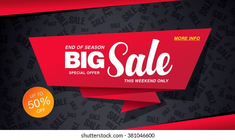sale banner template design