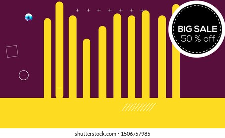 Sale banner template design 50 % off - Shutterstock ID 1506757985