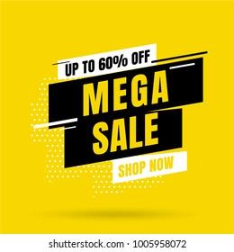 Sale banner template design, Big sale special offer. end of season special offer banner. vector illustration. - Shutterstock ID 1005958072