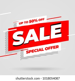 Sale banner template design, Big sale special offer. Vector illustration.