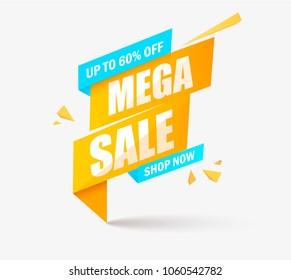 Sale banner template design, Big sale special offer. end of season special offer banner. vector illustration. esp 10