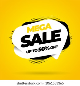 Sale banner template design, Big sale special offer. Vector illustration.