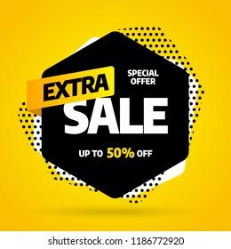Sale banner template design, Big sale special offer. End of season. Vector illustration.