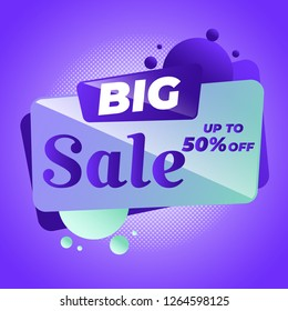 Sale banner template design, Big sale special offer. Vector illustration