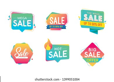 Sale banner template design, Big sale special offer. Vector illustration