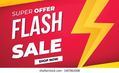 Sale banner template design, Big sale special offer.