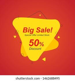 Sale banner template design, Big sale special offer. end of season special offer banner. vector design illustration