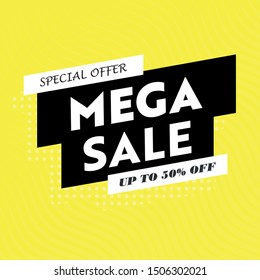 Sale banner template design, Big sale special offer. End of season special offer banner.