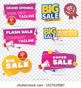 Sale banner template design, Big sale special up to 50% off. Super Sale, end of season special offer banners. vector illustration. grand opening banner